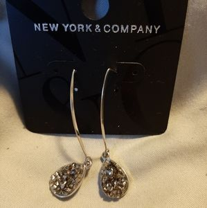 Women's Drop Dangle Earrings, Charcoal